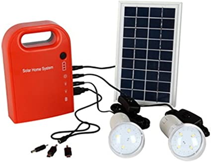 Solar Panel Power Energy Generator LED Light USB Charger Portable Outdoor Camper