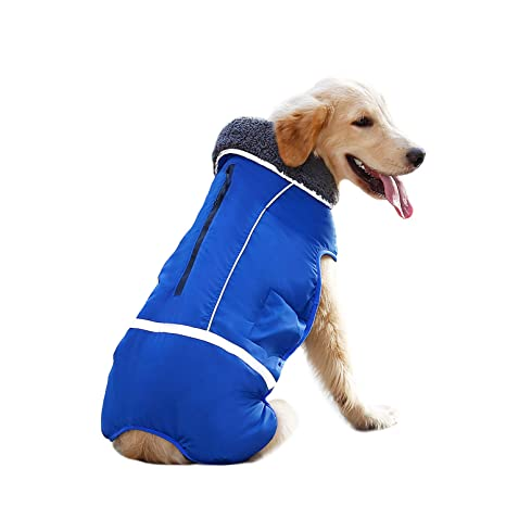 fb0317ce979b Amazon.com : IREENUO Winter Coats for Dogs, Reversible Windproof Waterproof  Design Dog Life Jacket Fleece Vest for Small Medium Large Dogs : Pet  Supplies
