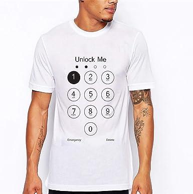 Camiseta de Verano con Cuello Redondo y Estampado Popular para ...