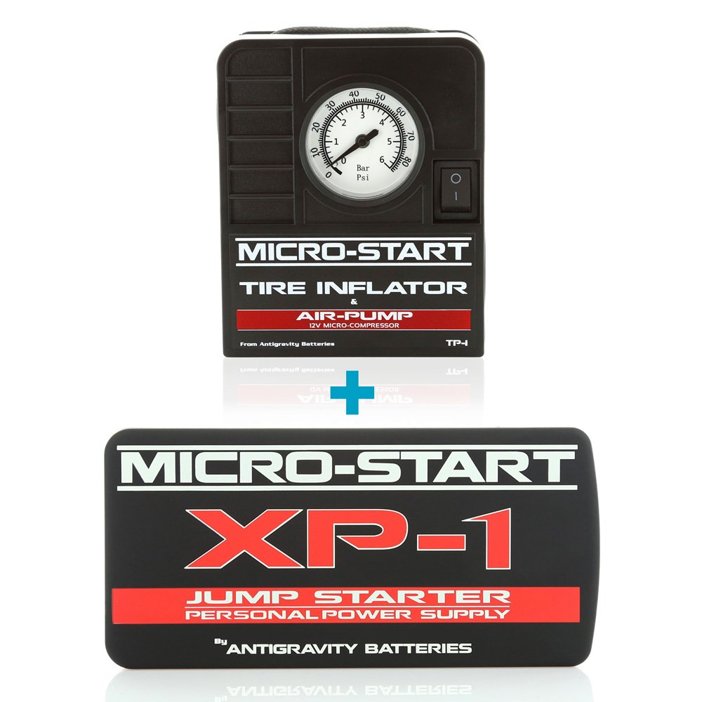 Antigravity KIT: XP-1 Micro-Start Jump-Starter Personal Power Supply + Tire Inflator Air Pump