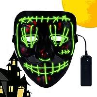CENOVE Máscara LED Halloween, la Purga Mascara LED con 3 Modos de Iluminación, Mascara la Purga LED para Fiestas de…