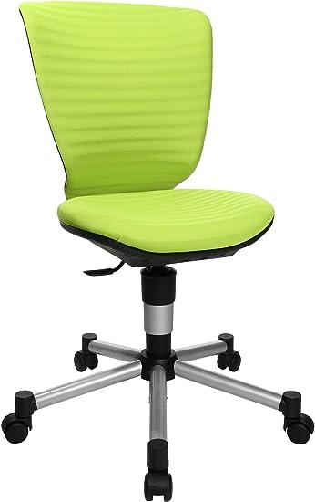 Topstar Titan Junior 3D, mitwachsender Kinderdrehstuhl, Schreibtischstuhl für Kinder & Jugendlinche, Stoff, grün, 45 x 45 x 100 cm