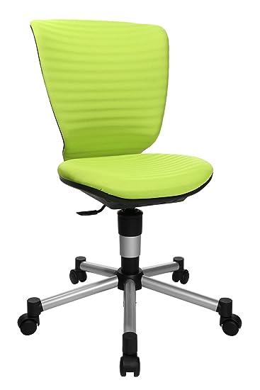 Topstar Titan Junior 3D, mitwachsender Kinderdrehstuhl, Schreibtischstuhl für Kinder & Jugendlinche, Stoff, grün, 45 x 45 x 1