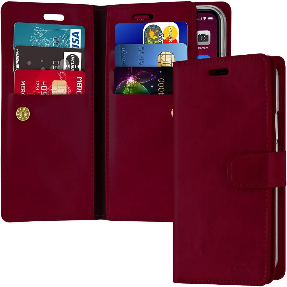 Goospery Mansoor Wallet for Apple iPhone 11 Case (6.1 inches) Double Sided Card Holder Flip Cover (Wine) IP11-MAN-WNE