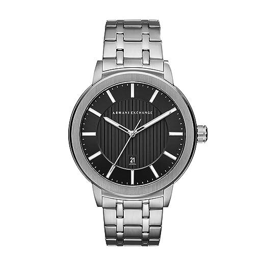 cb6e27c449d8 Armani Exchange Reloj Analógico para Hombre de Cuarzo con Correa en Acero  Inoxidable AX1455  Amazon.es  Relojes