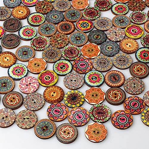One Package Vintage Shank Buttons-C2234 available in various colors and sizes 6 Buttons Clip Art Flower