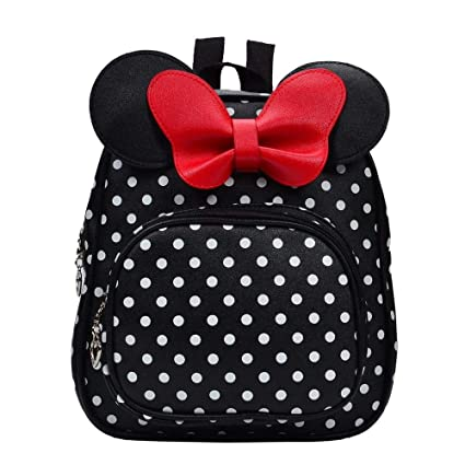 65f59ad3a1 Amazon.com  2018 Cute Bow Tie Minnie Mochila Cartoon Small School ...