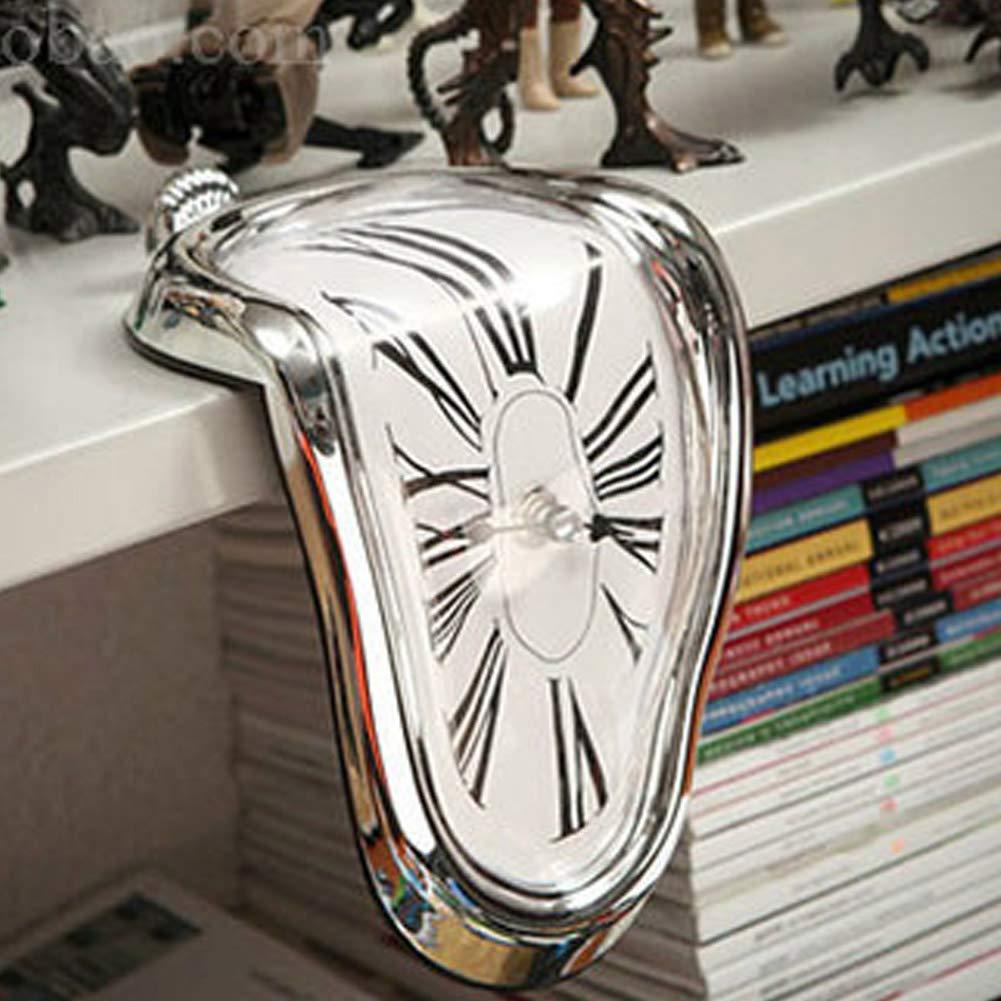 BonTime Horloge tordue créative rétro Distorsion Horloge irrégulière drôle Home Decor Room