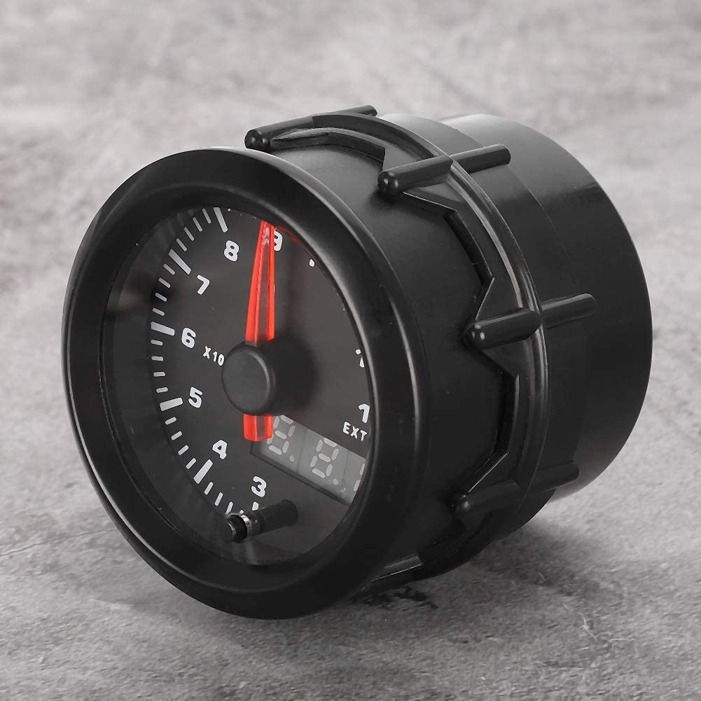Exhaust Gas Temp Gauge,2in 52mm Exhaust Gas Temp Gauge 7-Colors Auto Car LED Digital EGT Meter with Sensor for Most 12V Car