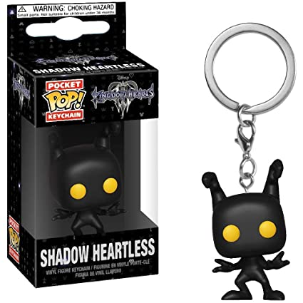 Funko Shadow Heartless: Kingdom Hearts x Pocket POP! Mini-Figural Keychain + 1 Classic Disney Trading Card Bundle [34066]