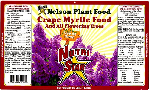Crape Myrtle & All Flowering Trees Desert Willow Mimosa Orchid Tree Indoor Outdoor Container Grown Granular Fertilizer NutriStar 10-15-9 (25 LB)