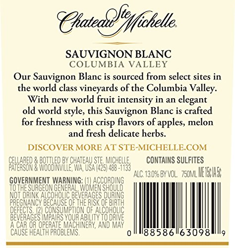 Large Product Image of Chateau Ste. Michelle Sauvignon Blanc, 750 mL