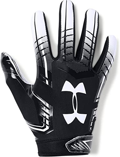 Picante Hobart En detalle  Amazon.com : Under Armour Boys F6 Youth Football Gloves : Clothing