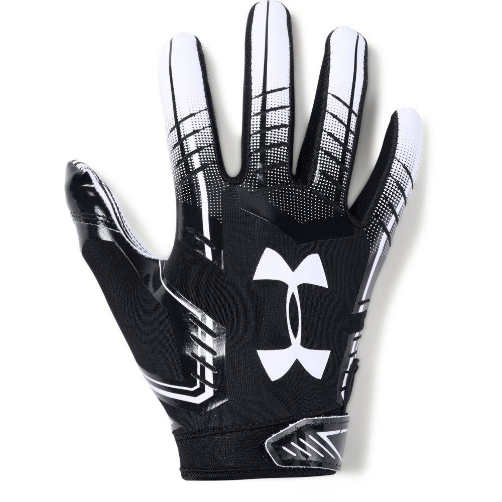Under Armour boys F6 Youth Football Gloves Black