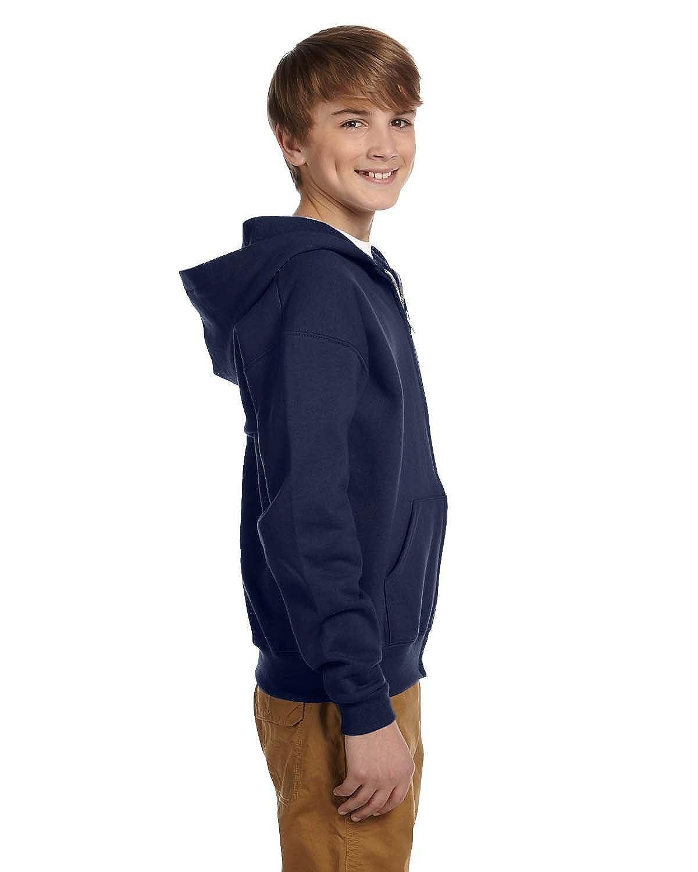 993B Jerzees boys NuBlend Full-Zip Hooded Sweatshirt -J NAVY-S