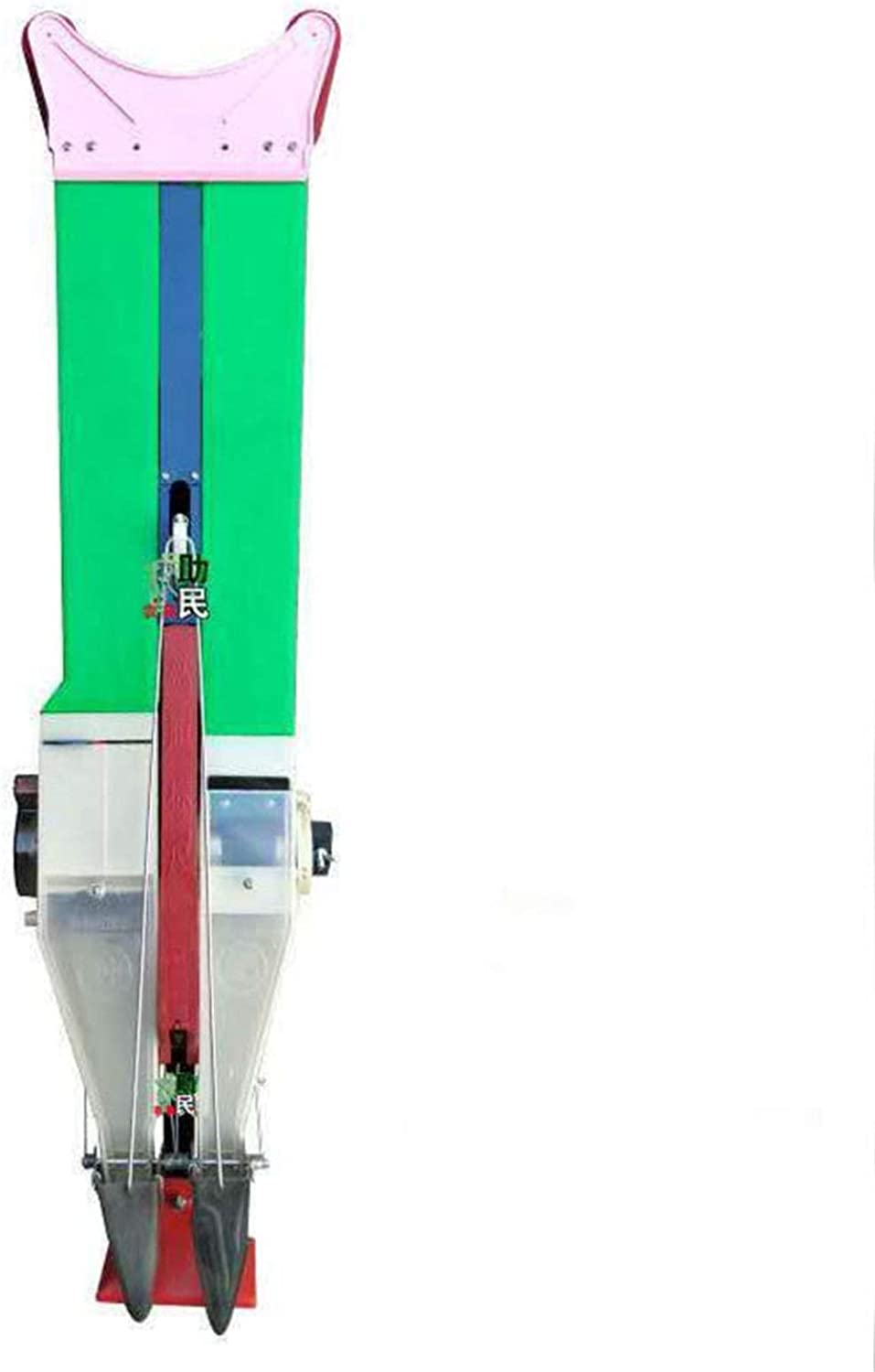 QWERTYUIOP Manual Seeder, Garden Seeder with a Single Tube and Double Tube with a Ruler, abandoning Traditional Artificial Bending and planing Planting Tools,Double Tube Player