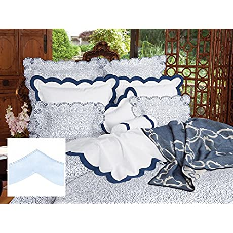 D Arcy Luxury Bedding Sheet Sets Full 100 Egyptian Cotton Sateen 1 Flat 1 Fitted 2 Std Shams Light Blue