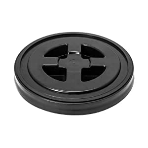QWORK 5 Gallon Screw Seal Lid for Plastic Bucket