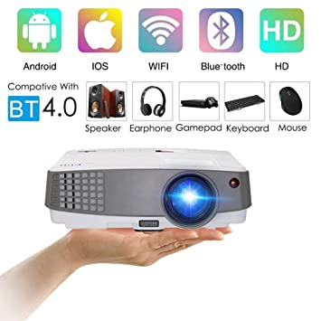 2018 New Upgraded Portable LCD WiFi Projector Bluetooth 2600