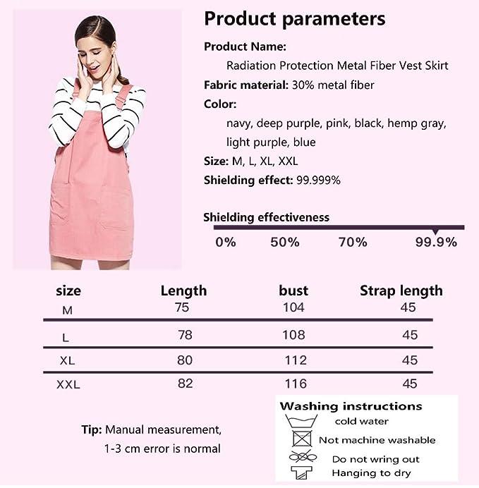 La Falda de protección contra la radiación, 360 ° Blindaje de protección, Que Contiene 30% de Fibra metálica, Puede Proteger la radiación de computadoras y ...