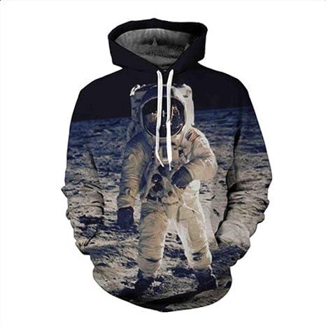 Amazon.com : HOOSHIRTA 5XL 3D Hoodies Men Women On The Moon Spaceman Hoody Astronaut Astros Print Sweatshirt Harajuku Hooded Pullover Sudaderas Hombre, 1, ...