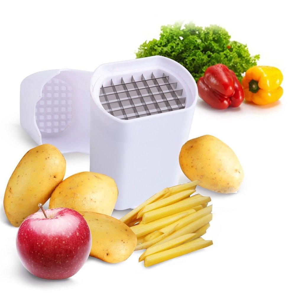 Demiawaking Potato Chipper Potato Veggie Chopper - Best for French Fries & Apple Slices - Potato Chips Waffle Maker