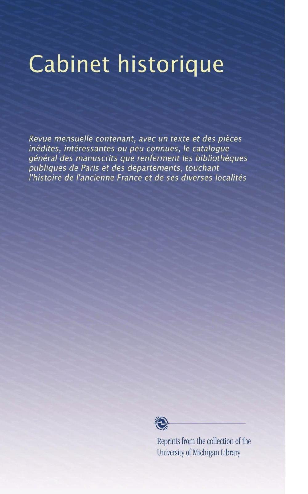 Download Cabinet historique: Revue m... (French Edition) pdf