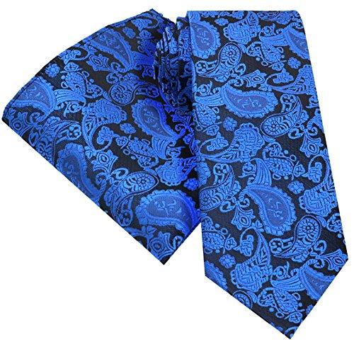 WEDDING FLORAL FLASHY BLUE AND SQUARE PAISLEY AND HANKY BLEND HANKY SET BACKING POCKET HANDKERCHIEF TIES BLUE PREMIUM SET SET STANDARD SET SILK MATCHING WITH 8CM X BRIGHT HANDKERCHIEF DARK TIE 146cm 0C5wxCd
