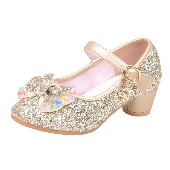 LILICAT✈✈ Moda 2019 Niñas y niños Perlas de Lentejuelas Rhinestone Zapatos Princesa Zapatos Individuales Zapatos pequeños Zapatos de Cristal Sandalias ...