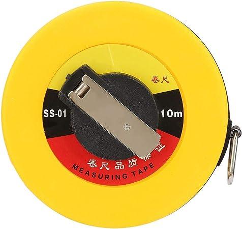 MC18M50 50 Feet Closed Metal Housing Fiberglass Measuring Tape in Inches Metric