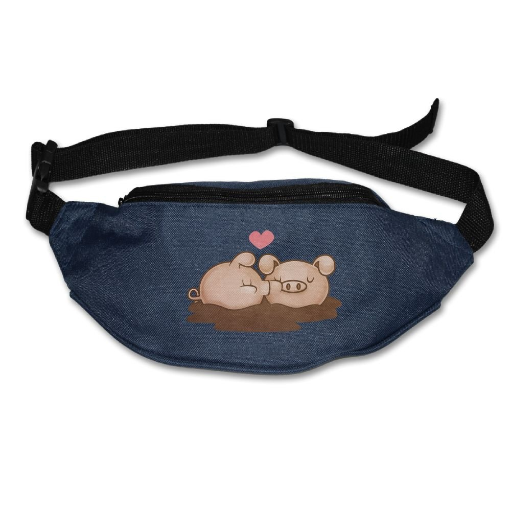 Gkf Waist Fanny Pack A Love Pig Running Sport Bag For Outdoors Workout Cycling