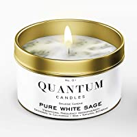 QUANTUM CANDLES Pure White Sage Smudge Candle for House Energy Cleansing, Banishes Negative Energy I Purification and…