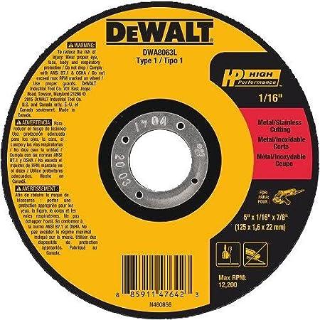 DEWALT DWA8062L T1 HP Long Life Cut-Off Wheel, 4-1/2' x 1/16' x 7/8' 4-1/2 x 1/16 x 7/8