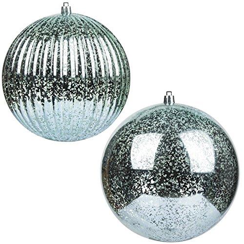 KI Store Christmas Ball Ornaments Hanging Tree Ornament Decorations 6 Super Large Shatterproof Vintage Mercury Balls(Teal)