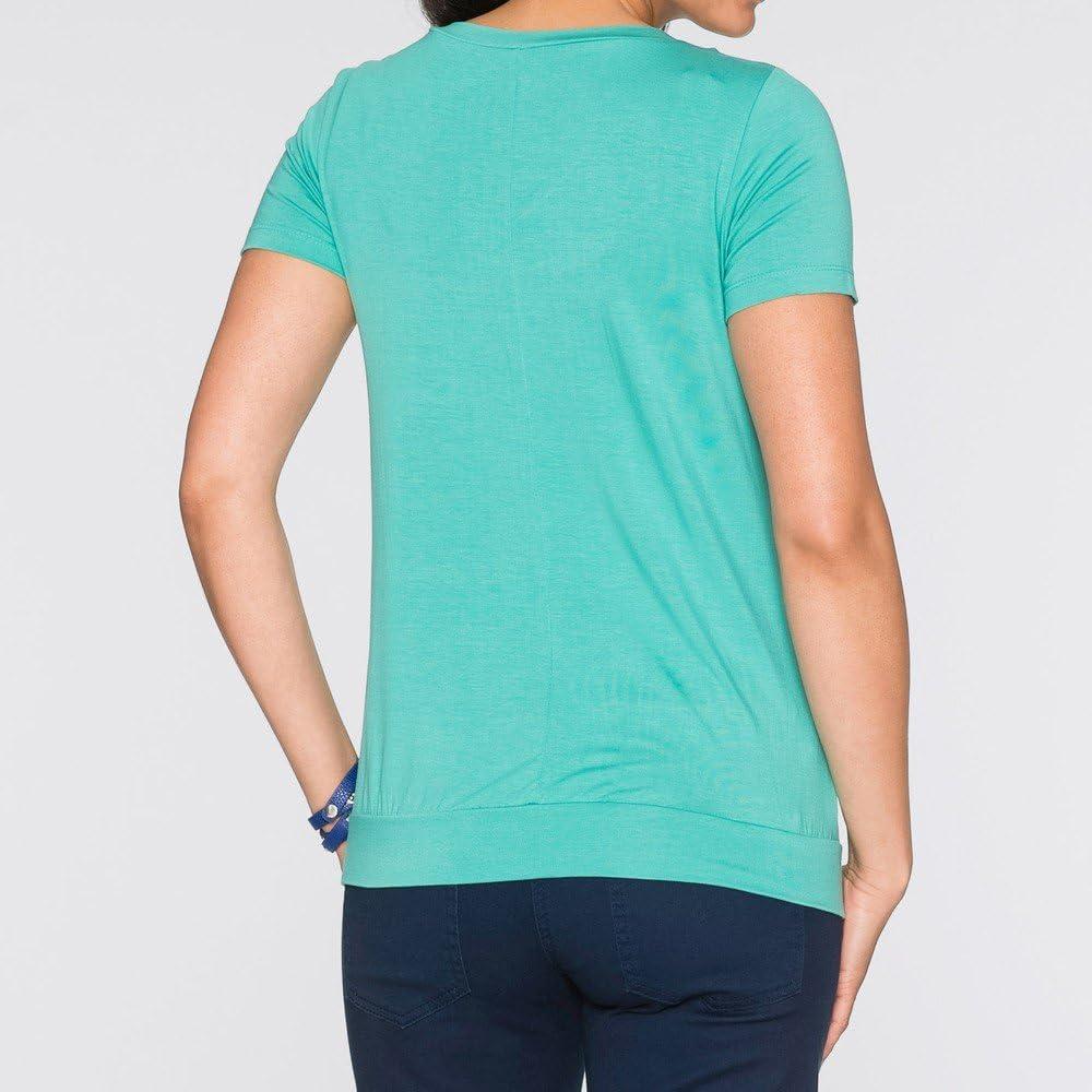Schwangerschaft Stillzeit Damen Umstandsmode Schwanger T-Shirt Maternity Shirt Umstandsshirt Stilltop Umstandstop Kurzarm Oberteil F/ür Schwangere