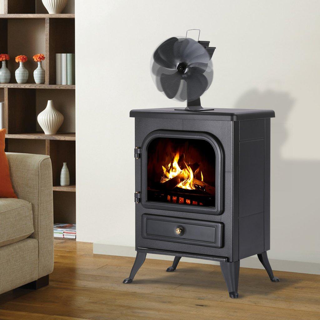 amazon com finether freestanding 4 blade heat powered eco