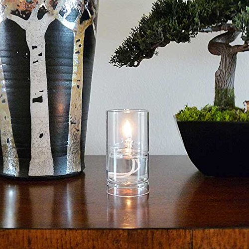Firefly Ethereal Clear Glass Oil Lamp for Fine Dining & Restaurants