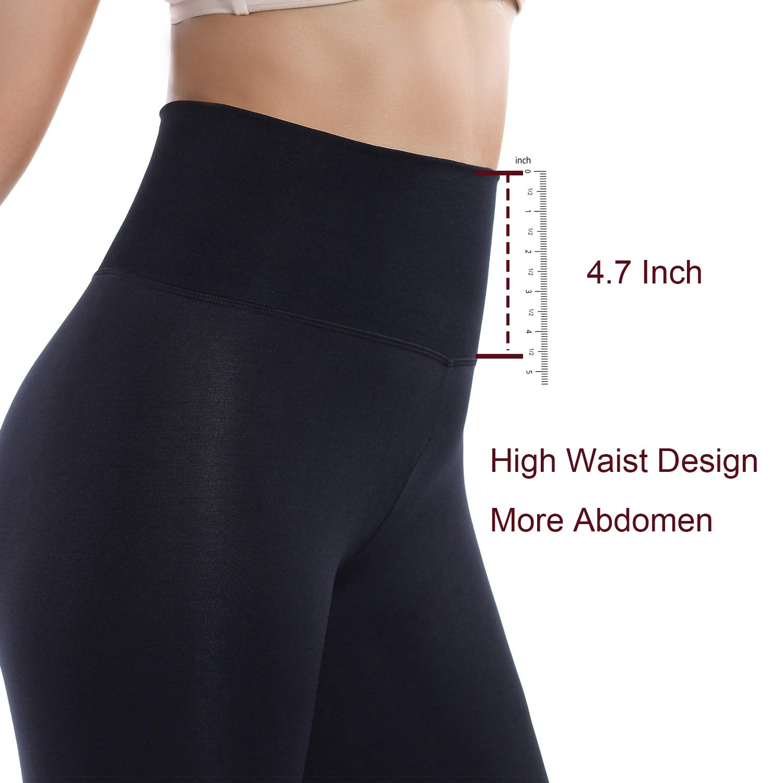 +MD Leggings Dimagranti a Compressione per Il Controllo della Forma Fisica di Collant per Yoga a Vita Alta da Donna