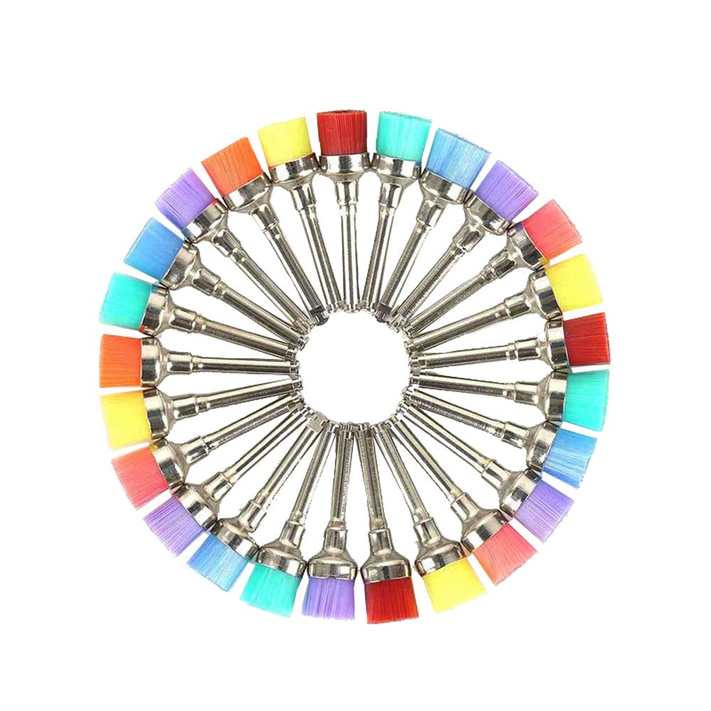 LyncMed Dental Prophy Brushes Polishing Polisher Colorful Nylon Cup type (Pack of 100pcs)