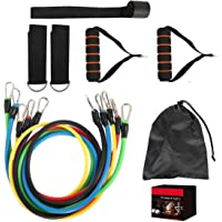 Exercise Resistance Bands Set,fitness Stretch Workout Bands Cord With Pull Ropes, Handles, Door Buckle, Foot Ring And…