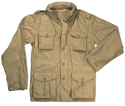 Amazon.com  Khaki Vintage Lightweight Military M-65 Field Jacket ... 1d3dead3413