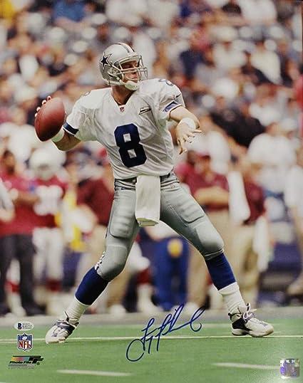 buy online f917e d17a8 Troy Aikman Autographed/Signed Dallas Cowboys 16x20 Photo ...