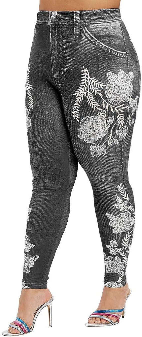 ZYUEER Pantaloni Donna Eleganti Sport Yoga Fitness Elefante Zampa Elasticizzati Jogging Collant con Stampa Sneaker Goth da Leggings Skinny Stile Gotico