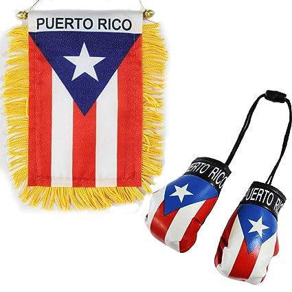 Amazon.com: Puerto Rico – Guante de boxeo y ventana ...