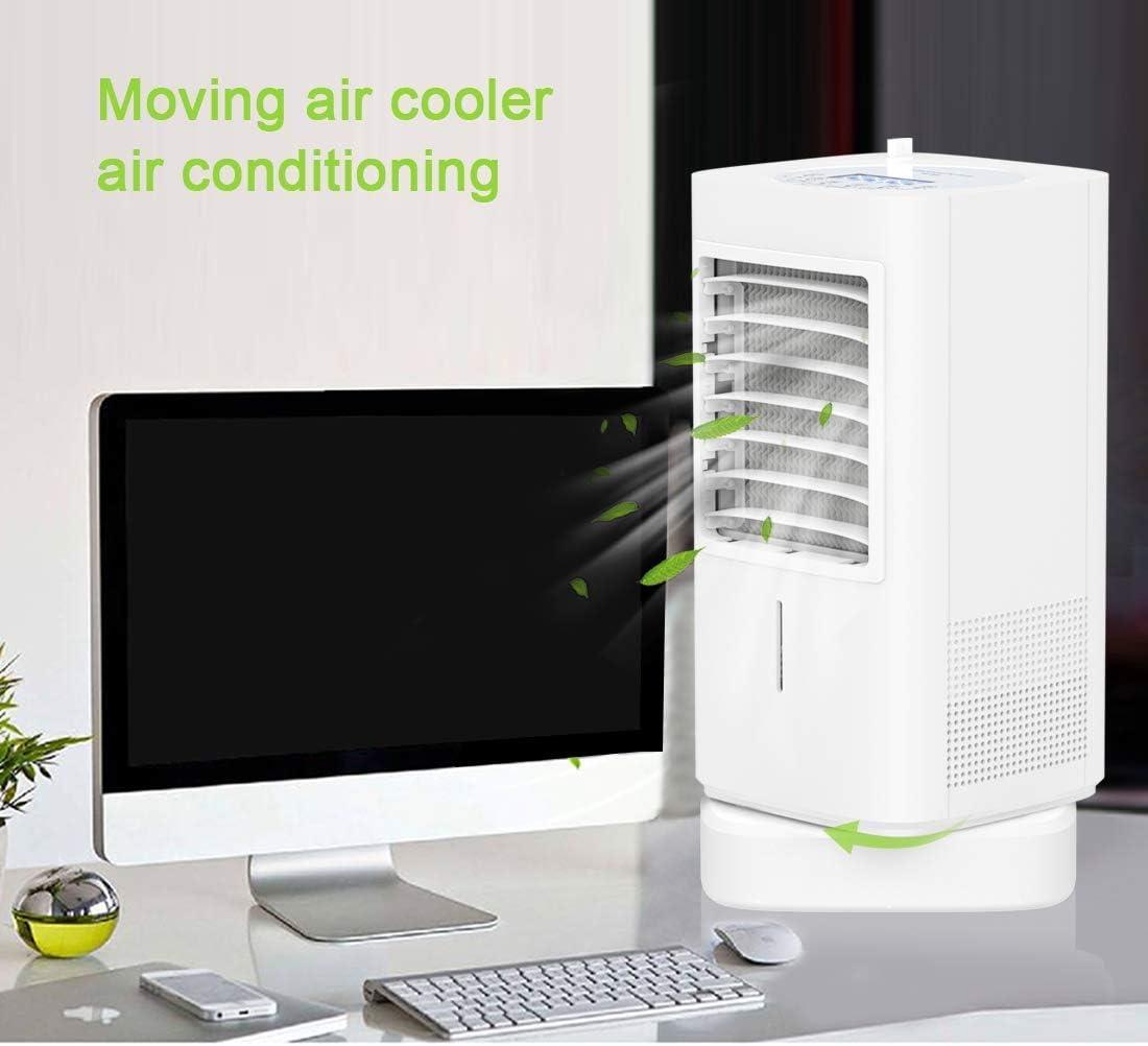 Enfriador de Aire,Espacio Personal Enfriador de Aire 90W Climatizador Evaporativo con Temporizador Ventilador Escritorio Móvil Portatil Aires Acondicionados para Hogar Oficina