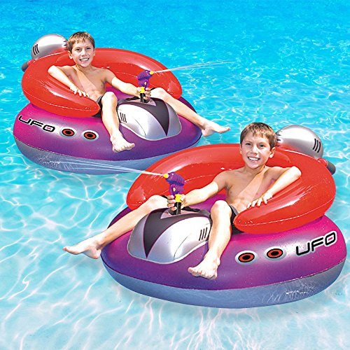 Swimline UFO Squirter Swimming Pool Floating Game, 2-Pack (Ufo Float)