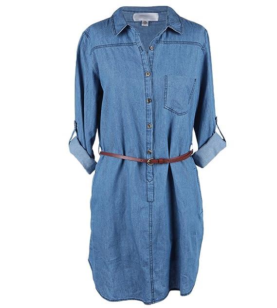 Ola Mari Junior Plus Size Chambray Dress at Amazon Women\'s ...