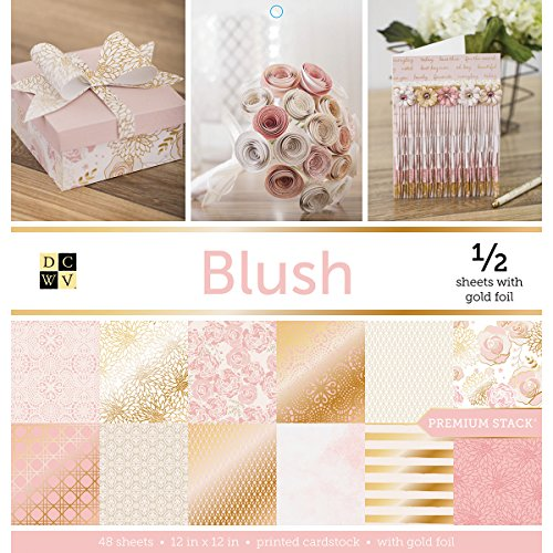 Die Cuts with a View DieCuts Prints Blush Paper Stack 12x12