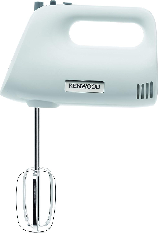 Kenwood Chefette HMP30.A0WH - Batidora de varillas de 450 W, 5 velocidades + turbo, varillas batidoras y ganchos para amasar, blanco