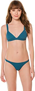product image for Vitamin A Women's Jade Eco Rib Banded Triangle Bikini Top
